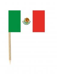 50 Bandierine Messico con stuzzicadenti