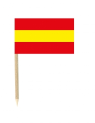 50 Bandierine Spagna con stuzzicadenti