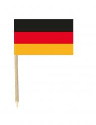 50 Bandierine Germania con stuzzicadenti