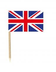 50 Bandierine Gran Bretagna su stuzzicadente