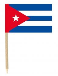 50 Bandierine di Cuba su stuzzicandente 3 x 5 cm