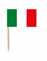 50 Bandierine Italia su stecchino 3 x 5 cm