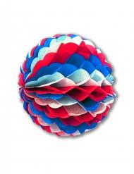 Ghirlanda ignifuga rotonda blu, bianca e rossa 25 cm