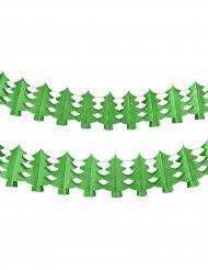 Ghirlanda con alberi di natale verde 4.5 mt