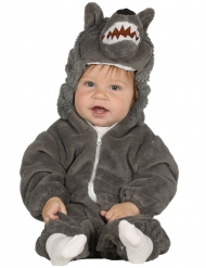 Costume da lupetto grigio per bebè