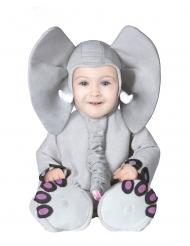 Costume da elefante grigio bebé