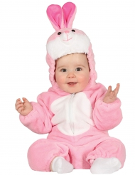 Costume da coniglietto rosa bebé