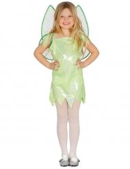 Costume da fata verde brillante bambina