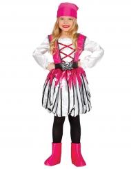 Costume rosa da pirata per bambina