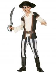 Costume da pirata a righe bambino