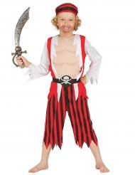 Costume da pirata bambino petto muscoloso