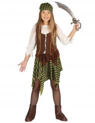 Costume da pirata a riche per bambina