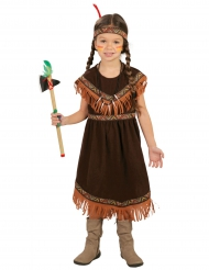 Costume indiana marrone bambina