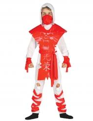 Costume da ninja bianco e rosso per bambino