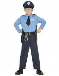 Costume da poliziotto muscoloso bambino