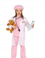 Costume veterinaria rosa bambina