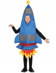 Costume da razzo spaziale blu per bambino