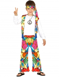 Costume da hippie con fiori per bambino