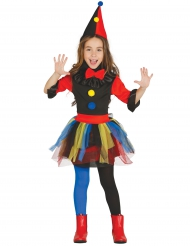 Costume clown nero bambina