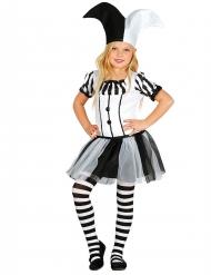 Costume Giullare bianco e nero bambina