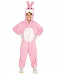 Costume da coniglietto rosa bambino