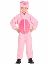 Costume da maialino rosa bambino