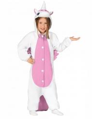 Costume tuta da unicorno bianco e rosa per bambino