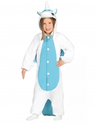 Costume da unicorno Bianco e Blu bambino