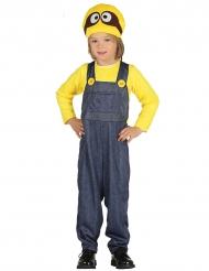 Costume da omino giallo e blu