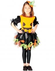 Costume da zucca in tulle colorato per bambina