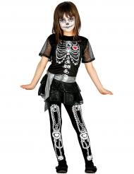 Costume da scheletro lucente per bambina