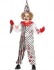 Costume da giullare zombie assassino per bambino