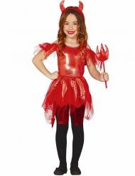 Costume da diavolessa brillante per bambina