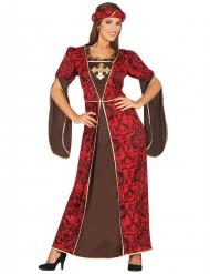 Costume da cortigiana medievale per donna