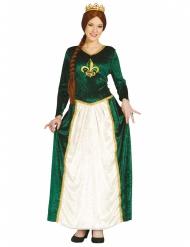 Costume da principessa medievale verde per adulto