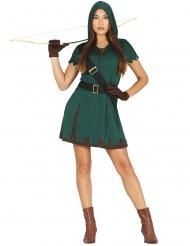 Costume da arciere verde per donna