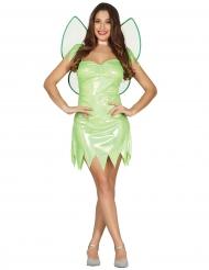 Costume da fata verde brillante per donna