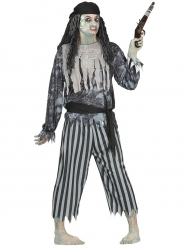 Costume da pirata fantasma uomo Halloween