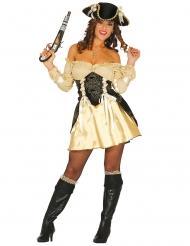 Costume da pirata dorato sexy per donna