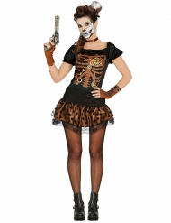 Costume scheletro steampunk per donna
