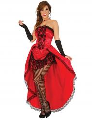 Costume Miss Burlesque rosso per donna