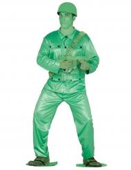 Costume da soldatino verde per adulto