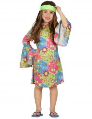 Costume da hippie per bambina multicolore