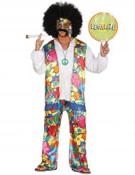 Costume da Hippie a fiori per adulto
