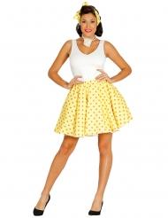 Costume giallo pois arancioni anni 50 donna