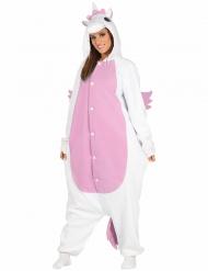Costume unicorno bianco e rosa per adulto