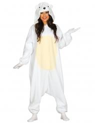 Costume tuta da Orso Polare per adulto