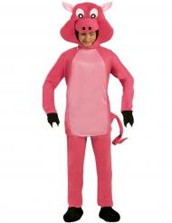 Costume da maiale con testa gigante per adulto