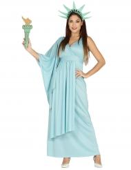 Costume da statua della liberta per donna
