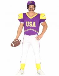Costume da Giocatore di Football americano viola e bianco